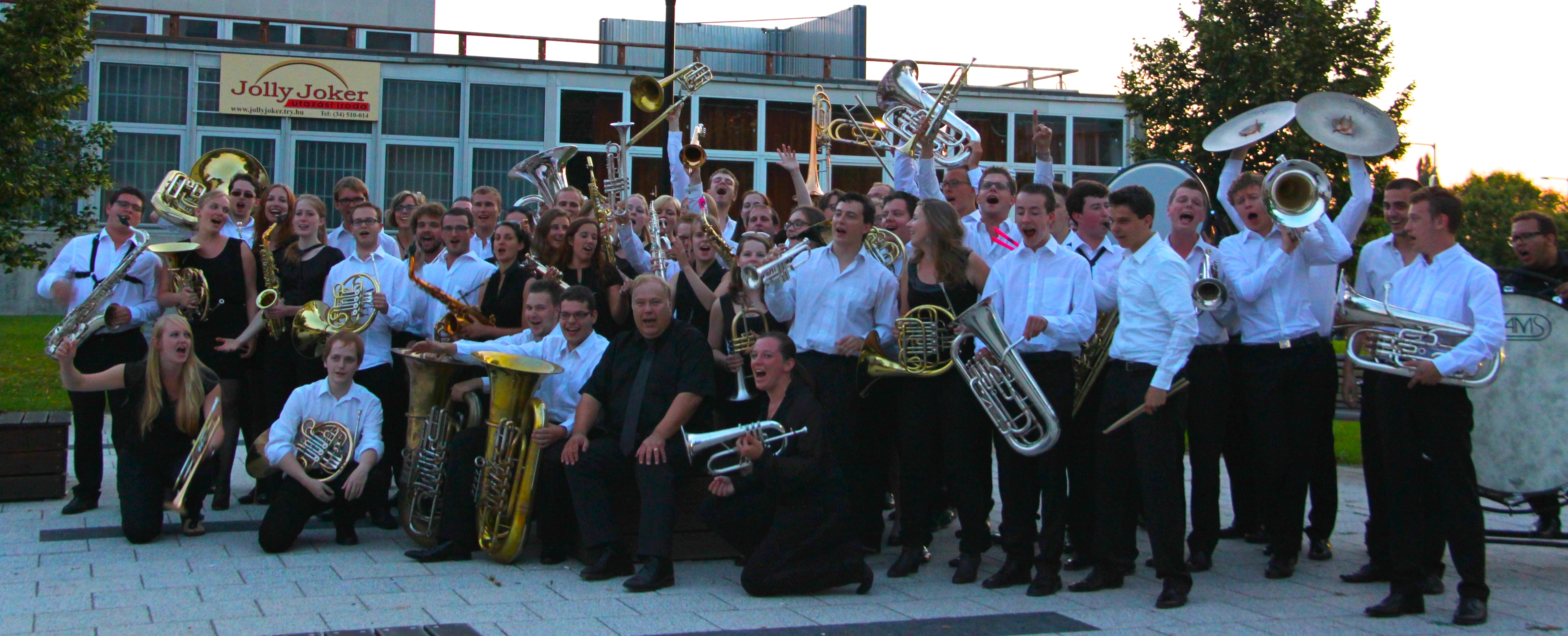 Het NJFO tijdens het Tournee naar Hongarije twee jaar geleden